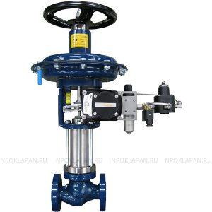 Клапаны по стандарту DIN c пневмоприводом (серия UNIWORLD Ду15-100 Ру16-40)